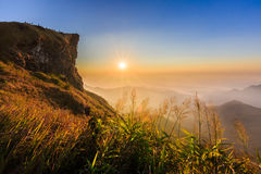 Phu Chee Fah. Sunrise view at Phu Chee Fah, Chiangrai ,Thailand Royalty Free Stock Photography
