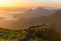 Phu chi fa in Chiangrai,Thailand Royalty Free Stock Photo
