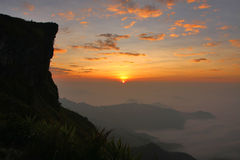 Phu Chi Fa, cliff of Chiangrai, Thailand Stock Photography