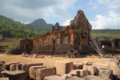 Phu di Wat nel Laos Immagini Stock Libere da Diritti