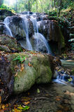 Phu-Kaeng waterfall in deep forest in Thailand. Daytime Royalty Free Stock Photo