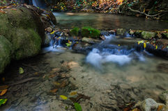Phu-Kaeng waterfall in deep forest in Thailand Stock Photography