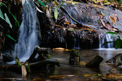 Phu-Kaeng waterfall in deep forest in Thailand. Long exposure Royalty Free Stock Photos