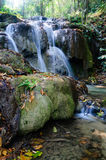 Phu-Kaeng waterfall in deep forest in Thailand. Long exposure Stock Image