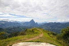 Phu Koon山从Phupeangfah观点 库存照片