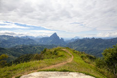Phu Koon mountain from the Phupeangfah viewpoint. View of Phu Koon mountain from the Phupeangfah viewpoint stock photos