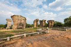 Phu Lan Kha National Park,Mo Hin Khao,Chaiyaphum,Stonehenge of. Thailand royalty free stock photos