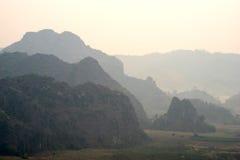 Phu Langa är synvinkeln i nordligt av Thailand Royaltyfri Bild
