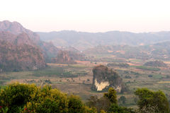 Phu Langa is viewpoint in Northern of Thailand Stock Photos