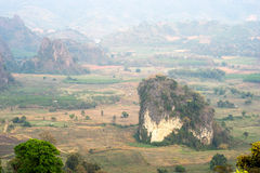 Phu Langa is viewpoint in Northern of Thailand Royalty Free Stock Photo