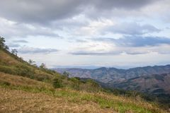 Panoramic views from mountaintop of Phu Lom Lo,Phu Hin Rong Kla National Park,Kok Sathon,Dan Sai District,Loei,Thailand. Phu Lom Lo is the new tourist attraction Stock Images
