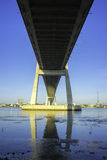 Phu My bridge in view from Saigon river Royalty Free Stock Photography