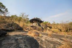 Phu Pha Thoep nationalpark, Mukdahan, Thailand Arkivfoto