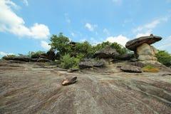 Phu Pha Thoep nationalpark, Mukdahan, Thailand, arkivfoton