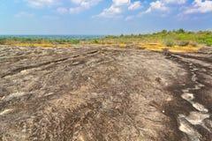 Πετρώδης αυλή σε Phu Pha Toeb, muk-DA, Ταϊλάνδη Στοκ εικόνα με δικαίωμα ελεύθερης χρήσης