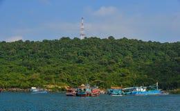 Phu Quoc海岛,越南海景  免版税图库摄影