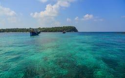 Phu Quoc海岛,越南海景  免版税库存照片