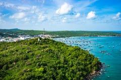 Phu Quoc海景视图从上面 库存图片