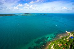 Phu Quoc海景视图从上面 免版税库存图片