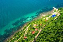 Phu Quoc海景视图从上面 免版税库存照片