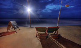 Phu Quoc Beach at Blue Hour Royalty Free Stock Photography