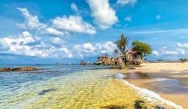 Phu Quoc hav på solig dag fotografering för bildbyråer