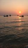 Phu Quoc sea at sunset in Kien Giang, Vietnam Royalty Free Stock Photos