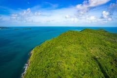Phu Quoc seascapesikt från över Royaltyfria Foton