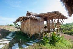 Phu-Rehütten-Erholungsort; Bambusbungalows im Erholungsort Stockfotos