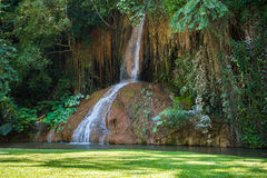 Phu Sang waterfall with water only in Thailand. -36 To 35 degree Stock Photos