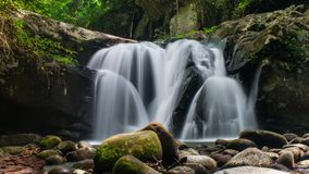Phu Soi Dao waterfall. Is a beautiful and popular place in northward thailand Stock Photos