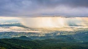 Phu Thap Berk когда оно идет дождь стоковое фото