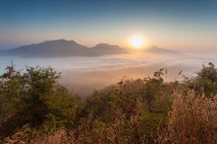 Phu thok chiang khan in loei province thailand Royalty Free Stock Photography