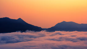Phu tok cloud sea Royalty Free Stock Image