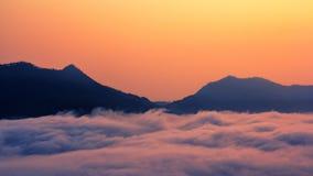 Phu tok cloud sea. Phu tok, Loei, Thailand in morning time in October Royalty Free Stock Image