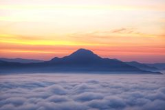 Phu Tok Mountain en Chiang Khan, Loei image libre de droits