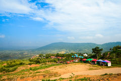Phu tub berg-khao kho phetchabun. Phu Tubberg stands 1,768 meters (5,800 ft.) above sea level. On this mountain live the Hmong people. In the older days, they royalty free stock photo