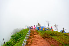 Phu tub berg-khao kho phetchabun. Phu Tubberg stands 1,768 meters (5,800 ft.) above sea level. On this mountain live the Hmong people. In the older days, they Royalty Free Stock Images