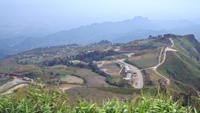 Phu Tubberk is a famous travel location in Phetchabun Province , Thailand stock video