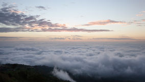 Dramatic clouds with mountain in dawn Royalty Free Stock Photography