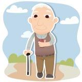 Phubbing old man Stock Image