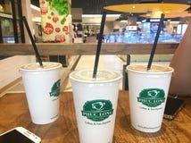 Phuc Long milk tea royalty free stock photography