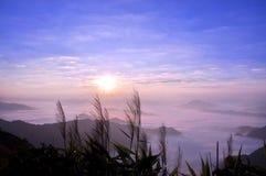 Phucheefah. A foggy landscape in phucheefah chaingrai thailand Royalty Free Stock Photo
