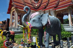 Phuiet, Thailand: Wat Chalong Elephant Shrine Royalty Free Stock Photo