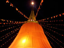 Phukaotong festival. The temple festival is one of signature in Thailand Stock Image