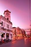 строя старый городок phuket Таиланда Стоковая Фотография RF