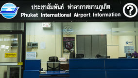 Phuket airport information Royalty Free Stock Photos