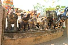 Phuket beach. Promthep Cape elephant temple shrine monument Stock Photos