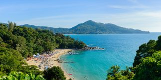 Phuket Beach from top view point, Thailand. Beach from top view point, Phuket island, Thailand Royalty Free Stock Image
