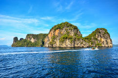 Phuket. Beautiful sea and clear blue sky Island in phuket , Thailand Royalty Free Stock Photos